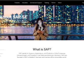 SAP homepage