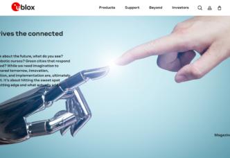 Ublox home page screenshot